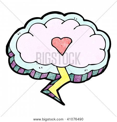 cartoon love struck cloud design
