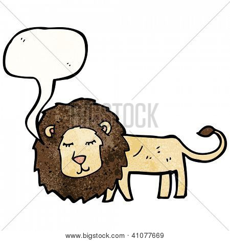 cartoon skinny lion