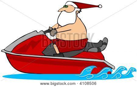 Santa On A Waverunner