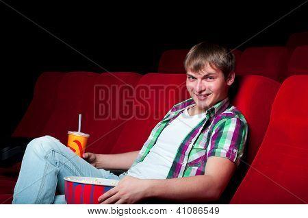 man in cinema