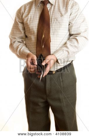 Businessman And Wallet
