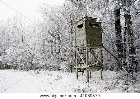 Hunting Tower in Winter