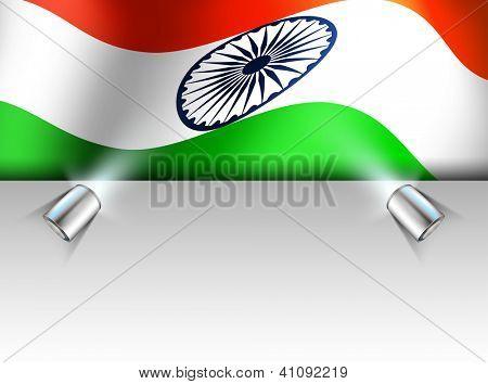 Presentation of Indian National Flag waving. EPS 10.