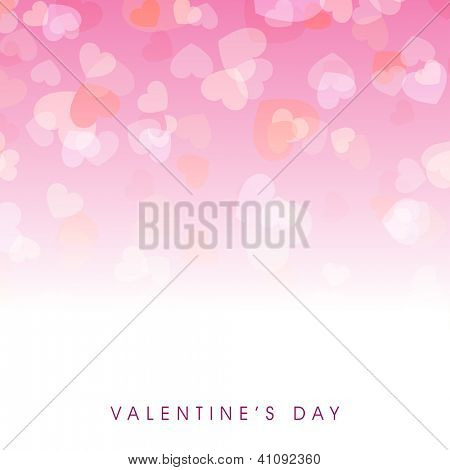 Beautiful Valentines Day background with hearts having transparency effect on pink background. EPS 10.