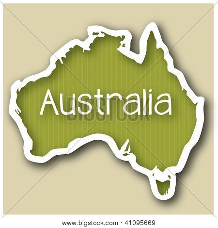 abstact map of Australia