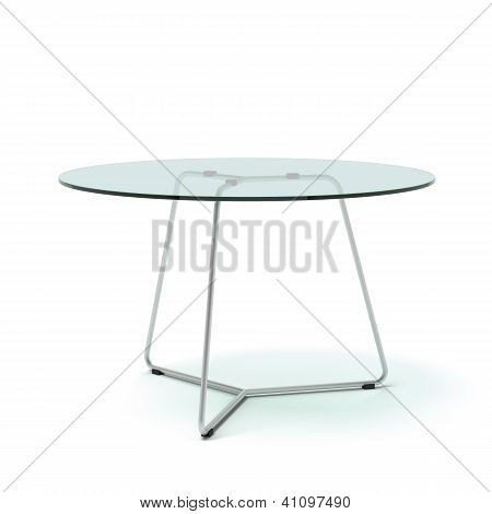 Modern galss table