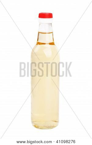 Vinegar Bottles Isolation On White Background
