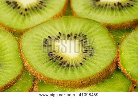 Slices Of Kiwi Fruit Background