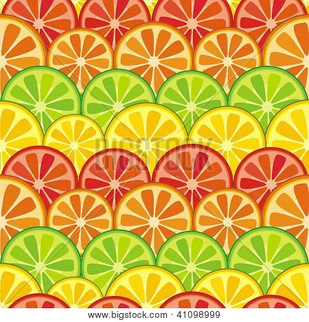 colorful seamless citrus background