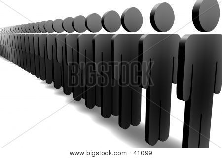 Line Of Figures