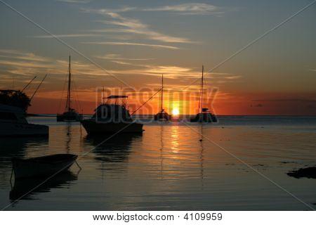 Sunset Over Coin De Mire, Mauritius
