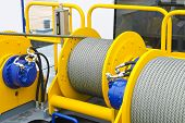 Shipboard Equipment. Rope On The Drum