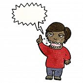 image of belching  - cartoon belching man - JPG