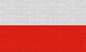 Knitted Polish Flag poster