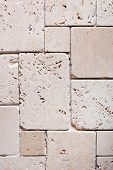stock photo of grout  - close up of the travertine tiles texture - JPG