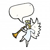 picture of angel-trumpet  - cartoon angel with trumpet - JPG