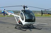 stock photo of hughes  - schweitzer 300 helicopter at bournemouth airport 10 may 2008 - JPG