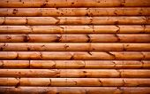 stock photo of log cabin  - Wooden background  - JPG