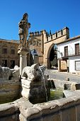 image of baeza  - Fountain of the lions in the Plaza de Populo  - JPG
