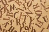 Copper Alphabet Letters Background