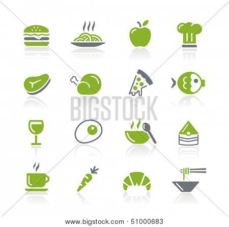 Food Icons - 1 of 2 // Natura Series