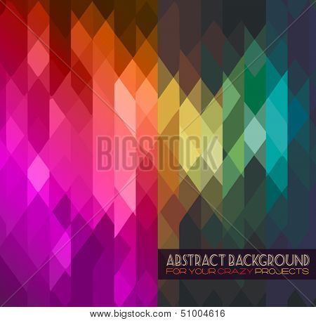 Disco club flyer template. Abstract background to use for music event posters or album covers.