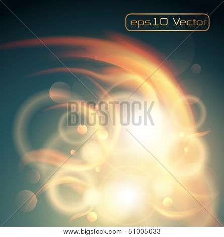 Abstract background glowing flames, vector illustration.
