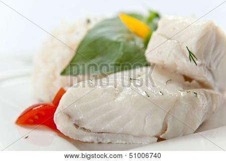 Halibut With Greens