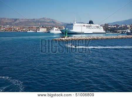 Transportation On The Sea - Large ferryboat