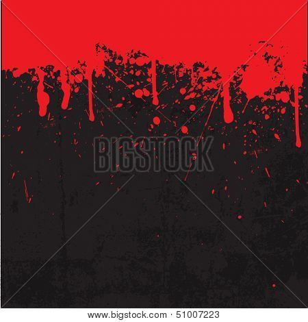 Grunge style Halloween background with blood splats and drips