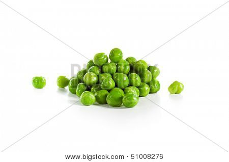 Green Peas Isolated over White
