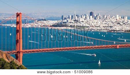 San Francisco Panorama W der Golden Gate Bridge