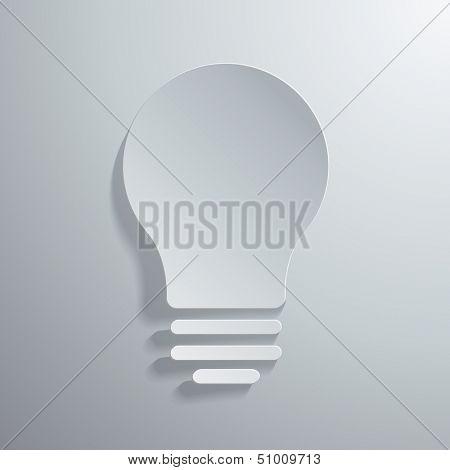 Vector illustration of light bulb icon