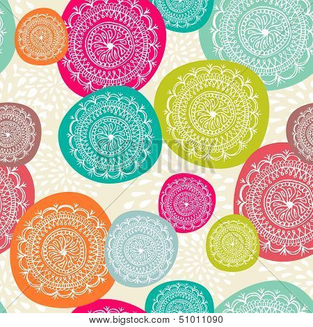 Merry Christmas Circle Seamless Pattern Background. Eps10 File.