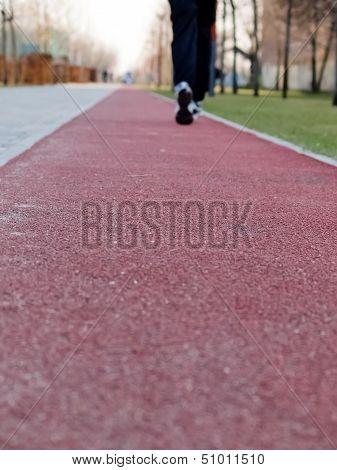 Jogging On Running Track