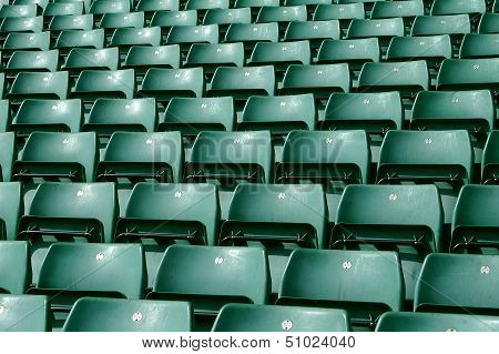 Green Stadium Seating