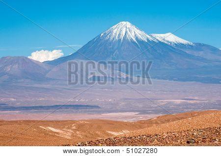 Volcanoes Licancabur And Juriques, Atacama, Chile