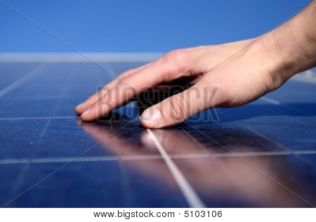 Solar Panel And Hand