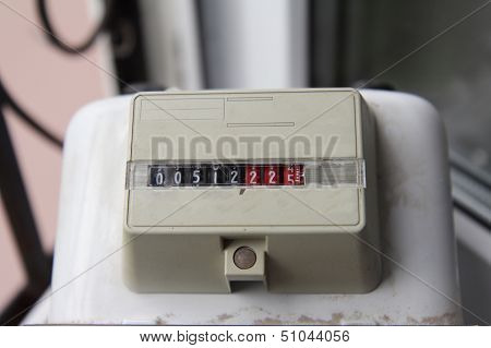 Old Residental Meter For Natural Gas