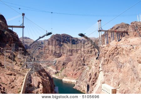 Bridge Construction At Hoover Dam