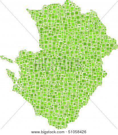 Map of Poitou-Charentes