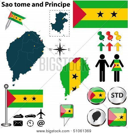 Map Of Sao Tome And Principe