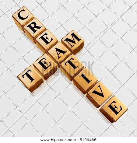 Golden Creative Team Like Crossword