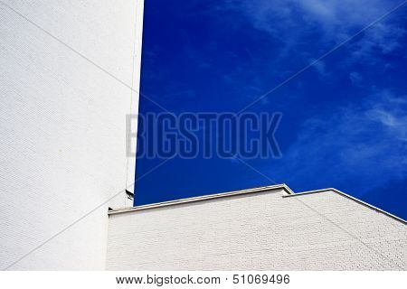 Sky Blue White Building