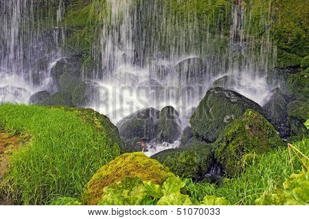 Closeup Waterfall