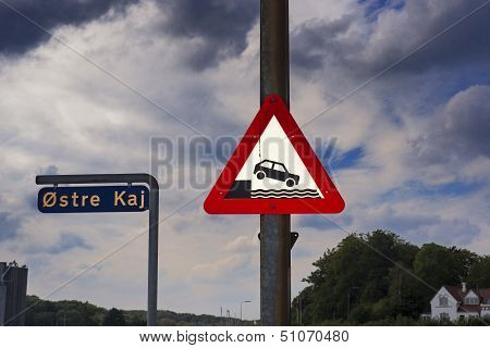 Car Warning Sign