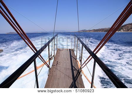 Gangplank Of The Sailboat