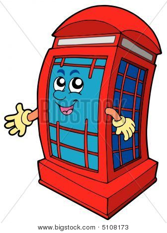 English Red Phone Booth