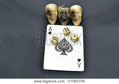 Unlucky card with Dice