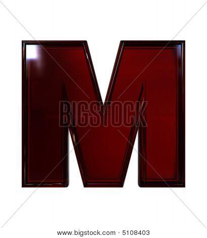 Plastic Letter M